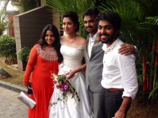 GV Prakash Couple With Amala-Vijay