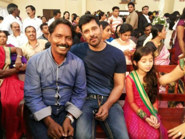 Vikram, Baby Sara At Vijay-Amala Paul's Engagement