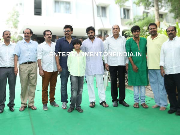 Pawan Kalyan, Venkatesh At Gopala Gopala Launch