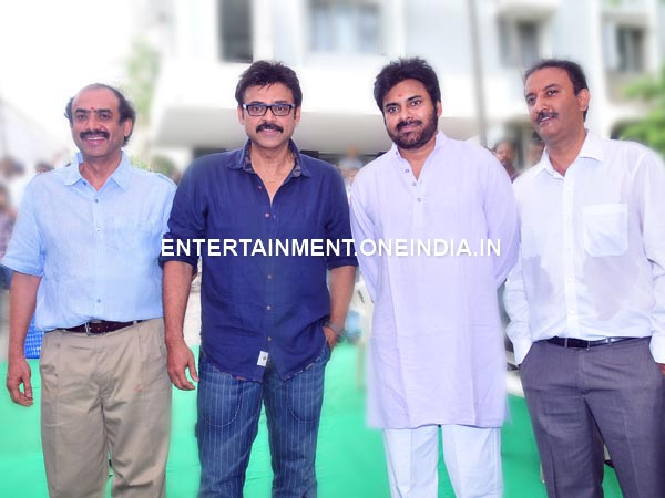 Pawan, Venkatesh With Gopala Gopala Producers