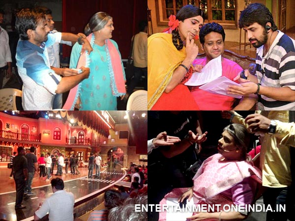 comedy nights making behind the cam harbhajan yuvraj singh collage