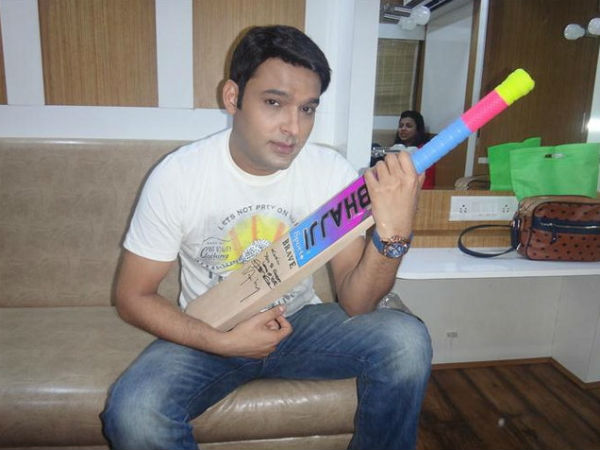 Kapil With Autographed Bat