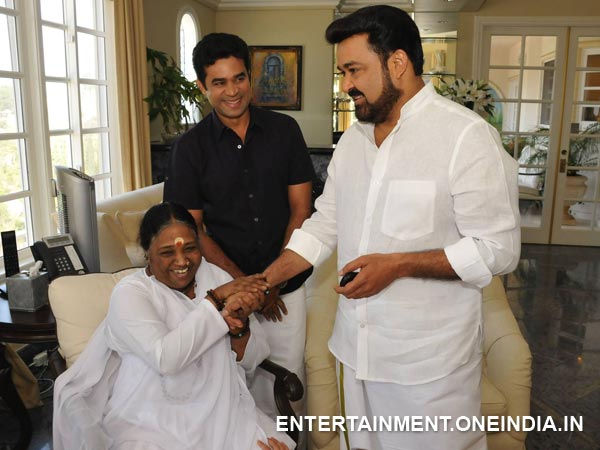 Mohanlal Meets Matha Amrithanandamayi In The LA