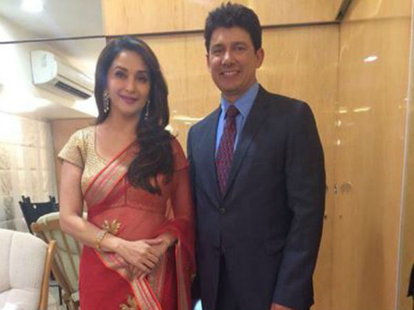 Traditional Madhuri With Hubby