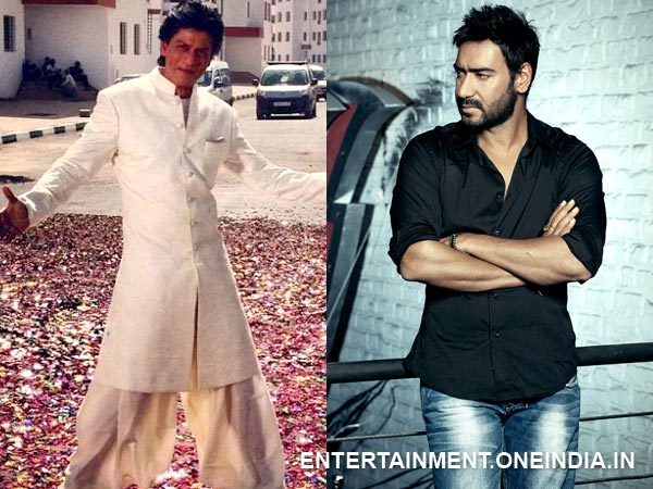 Shahrukh Khan and Ajay Devgan