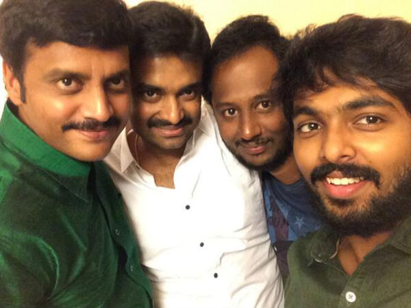 Vijay, GV Prakash WIth Friends