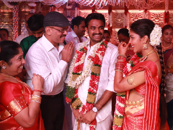 UTV Dhananjayan At Amala-Vijay's Marriage