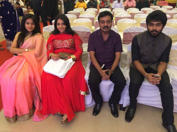 GV Prakash's Family At Amala Paul-Vijay's Wedding Reception