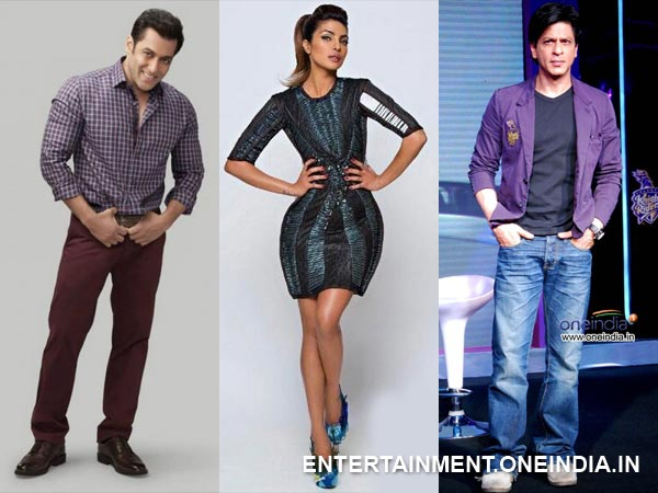 Salman Khan Priyanka Chopra and Shahrukh Khan