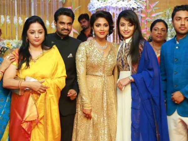 Trisha At Amala Paul-Vijay's Wedding Reception