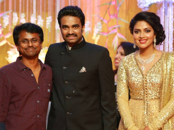 AR Murugadoss At Vijay-Amala Paul's Wedding Reception