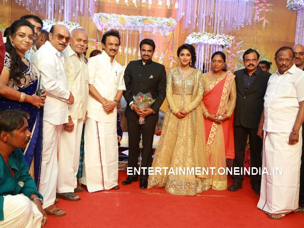 MK Stalin At Amala Paul-Vijay's Wedding Reception