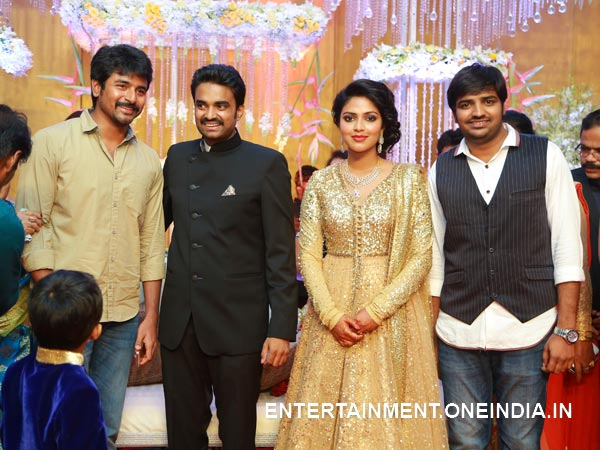 Sivakarthikeyan At Amala Paul-Vijay's Wedding Reception