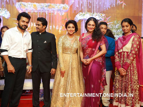 Karthi At Amala Paul-Vijay's Wedding Reception