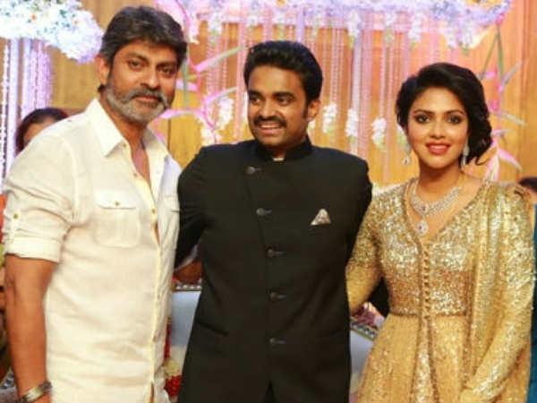 Jagapathi Babu At Amala Paul's Wedding Reception