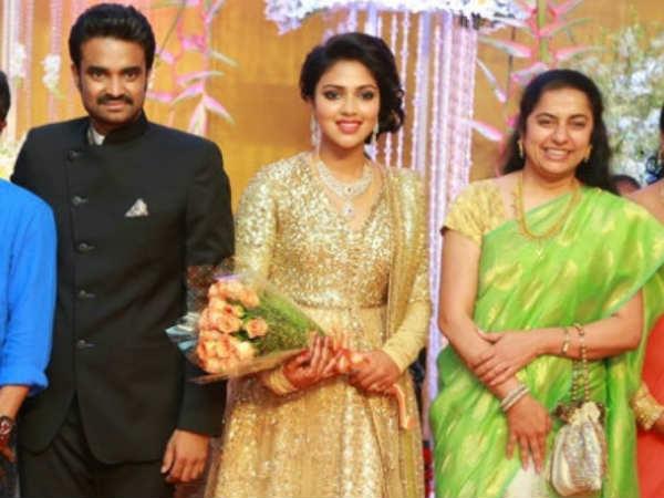 Suhasini At Amala Paul's Wedding Reception
