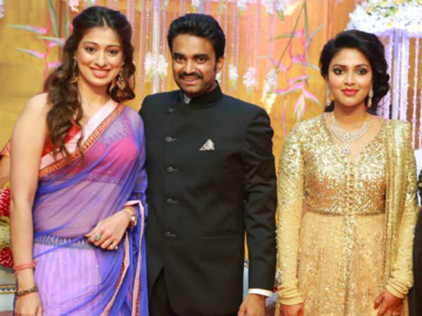 Lakshmi Rai At Amala Paul's Wedding Reception