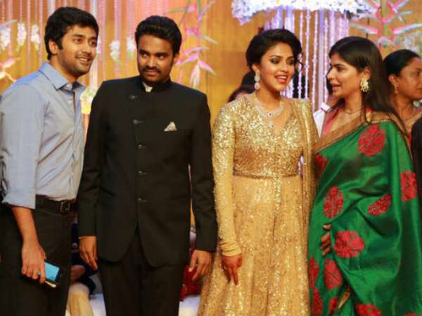 Chinmayi-Rahul At Amala Paul's Wedding Reception