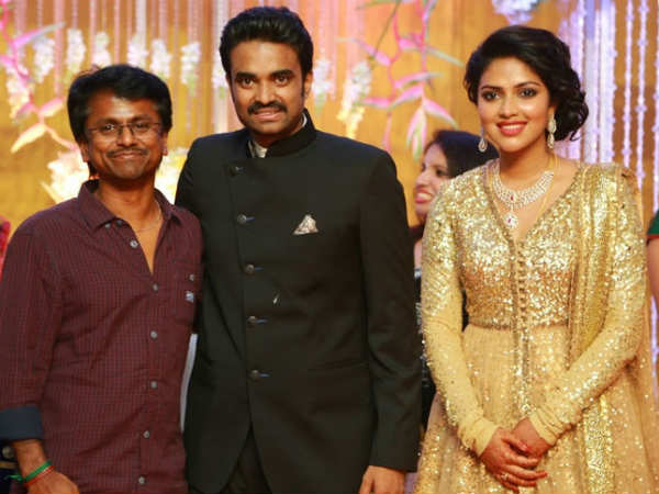 AR Murugadoss At Amala Paul's Wedding Reception