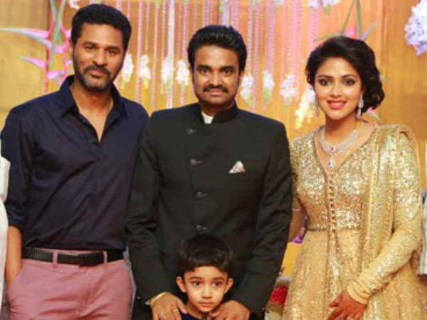 Prabhu Deva At Amala Paul's Wedding Reception