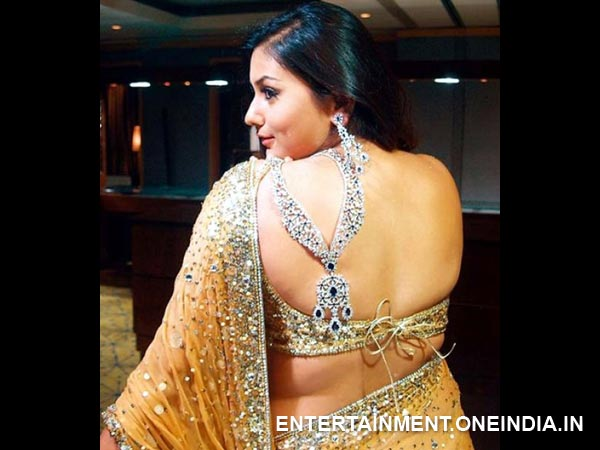 Namitha Shows Off Her Back
