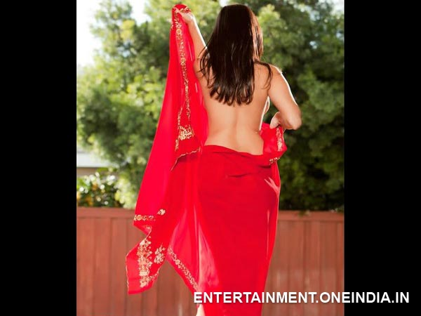 Sunny Leone Shows Off Her Back