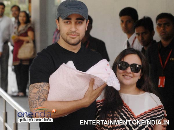 Imran Khan and Avantika with baby