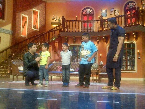 Kapil And Yo Yo With Kids