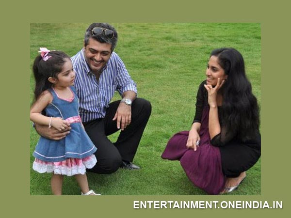 Ajith-Shalini With Their Daughter