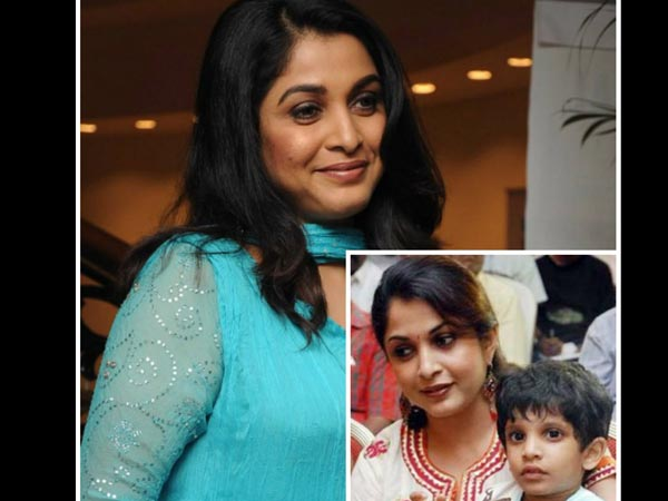 Ramya Krishna With Her Son