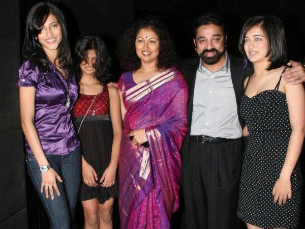 Kamal-Gauthami With Family