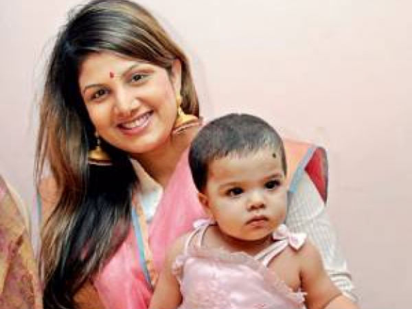 Rambha With Her Daughter