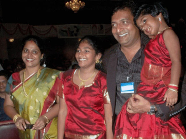 Prakash Raj With His Kids