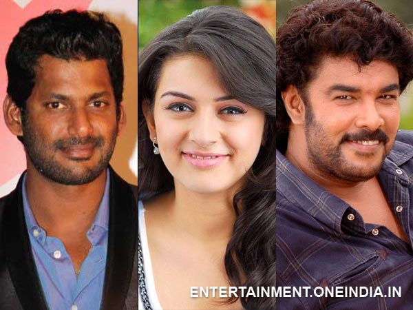 Vishal-Hansika Pair Up For Sundar C