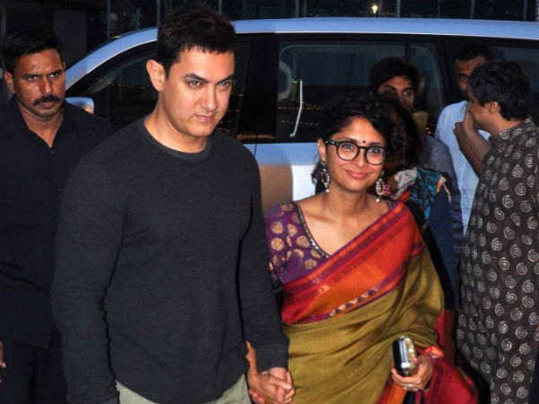 Aamir Khan-Kiran Rao At Star Parivaar Awards 2014 Red Carpet