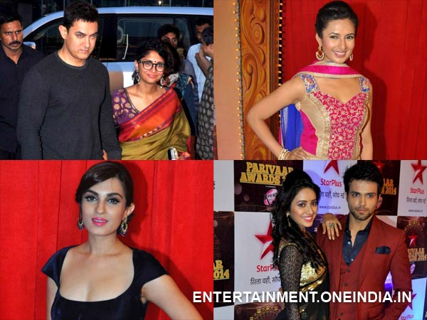 star parivaar awards 2014 red carpet collage