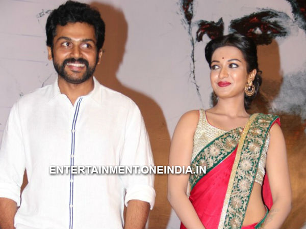 Karthi With Catherine Tresa At Madras Music Launch