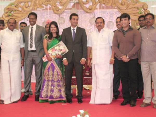 Anandaraj At Arun Pandian's Marriage Reception