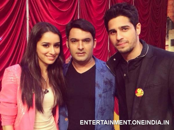 Kapil With Sidharth And Shraddha