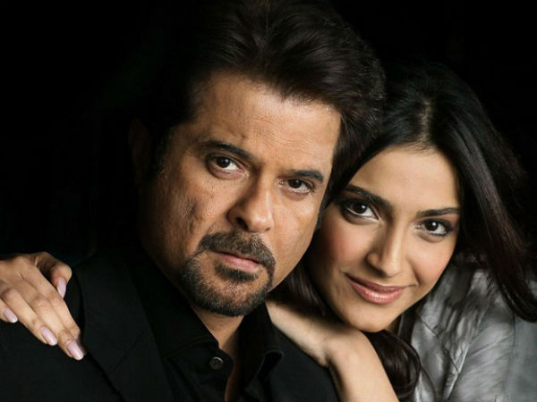 Actor Anil Kapoor with daughter Sonam Kapoor