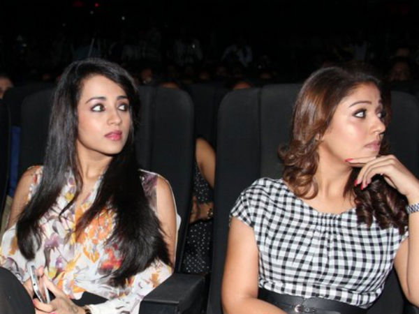 Trisha-Nayantara Spotted Together Amara Kaaviyam Music Launch