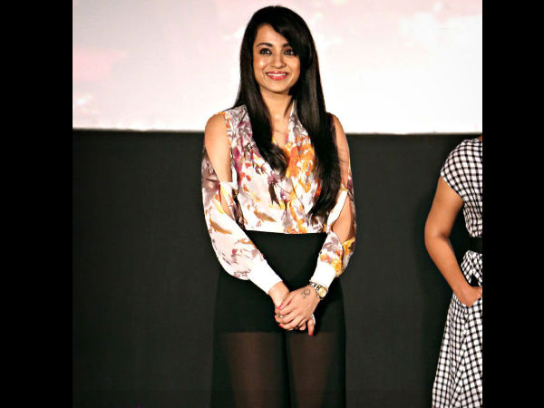 Trisha Dons Floral Shirt With Black Pants