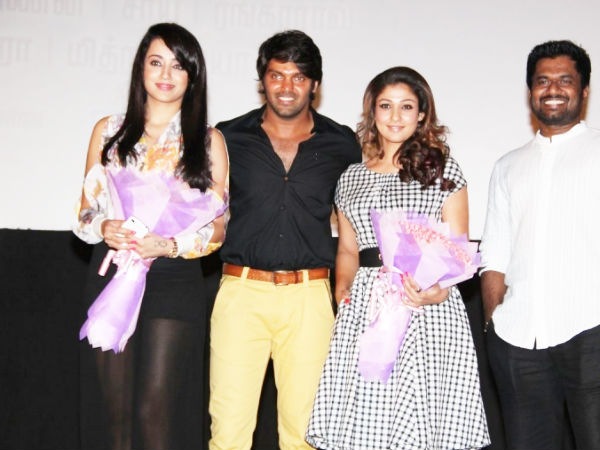 Trisha Posing For Camera With Arya-Nayantara