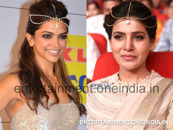 Samantha's Headgear At Alludu Seenu Music Launch