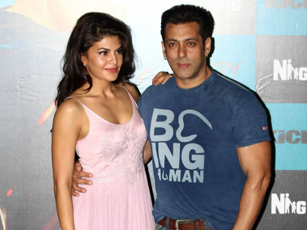 Salman Khan and Jacqueline Fernandez at the promo launch