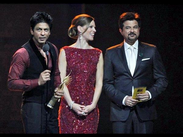 SRK with Hillary Swank