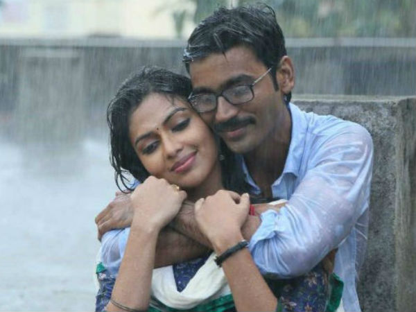 Amala-Dhanush In Romantic Scene