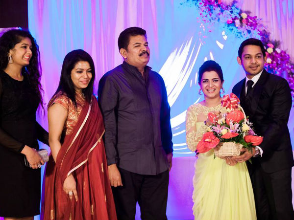 Shankar At VJ Divyadarshini's Wedding Reception
