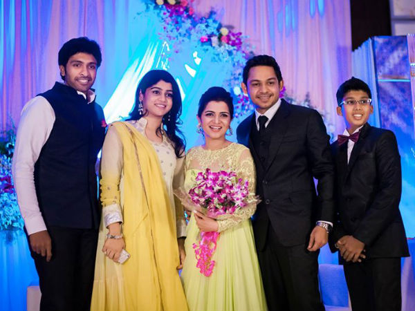 Vikram Prabhu At Divyadarshini's Wedding Reception