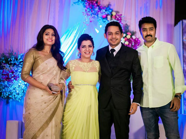 Sneha-Prasanna At Divyadarshini's Wedding Reception